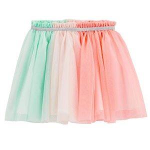 Carter's Rainbow Colorblocked Tulle Tutu Skirt